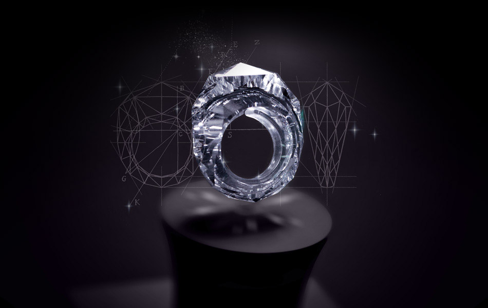 Кольцо из цельного алмаза